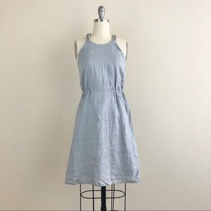 Calypso St. Barth Gray Halter Fit And Flare Dress